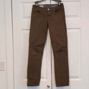 Gap jeans in brown/olive size 0
